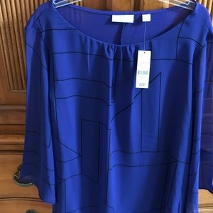 New York & Co 3/4 sheer sleeve. Brand new w/tags.